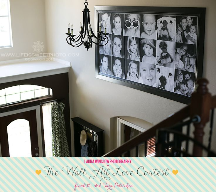 Please vote for my wall in this contest!!  Only takes a second.  All the entries are so lovely...can't believe I'm a finalist!  Thank you Laura Winslow Photography!!!  Wall Art Love Contest Finalist Tara Pottichen 16