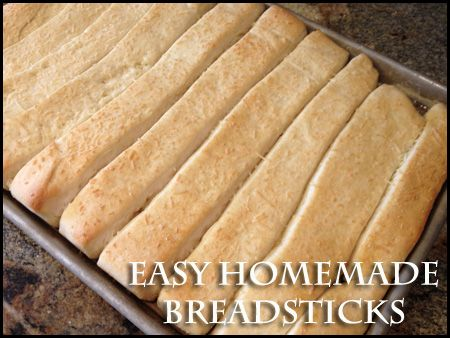 Pinner said: Easy Homemade Breadsticks. This is one of my favorite ...