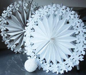 3d снежинки из бумаги фото