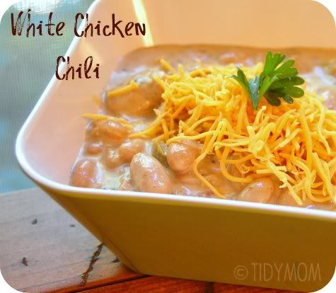 White Bean Chicken Chili..... My daughter made this and it was ...