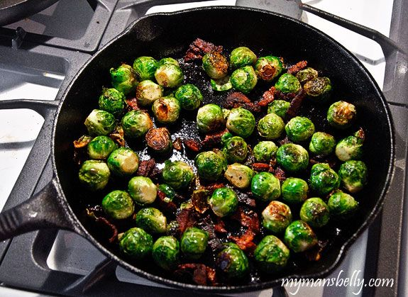 Easy Thanksgiving Recipes: Maple Bacon Roasted Brussels Sprouts