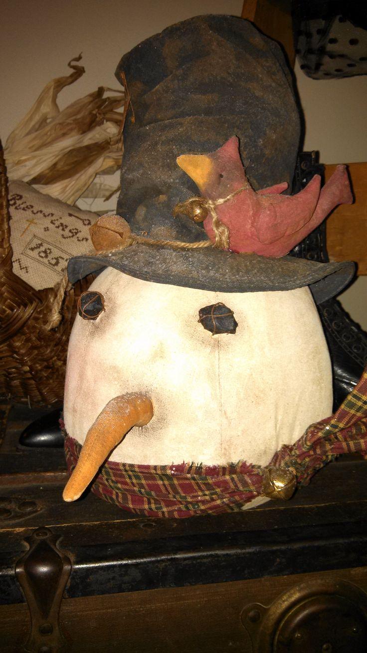 Snowman Head | ~Dairy Barn Primitives~ | Pinterest