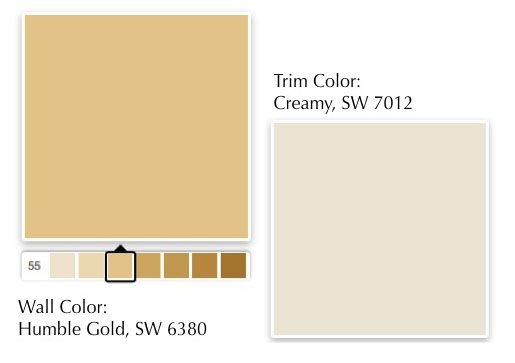 1 humblegold creamy colors pinterest for What paint color goes with gold