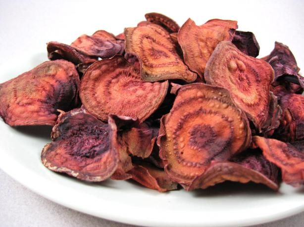 Must try!! Unfried Crispy Baked Beet Chips (Low Fat) from Food.com: A ...