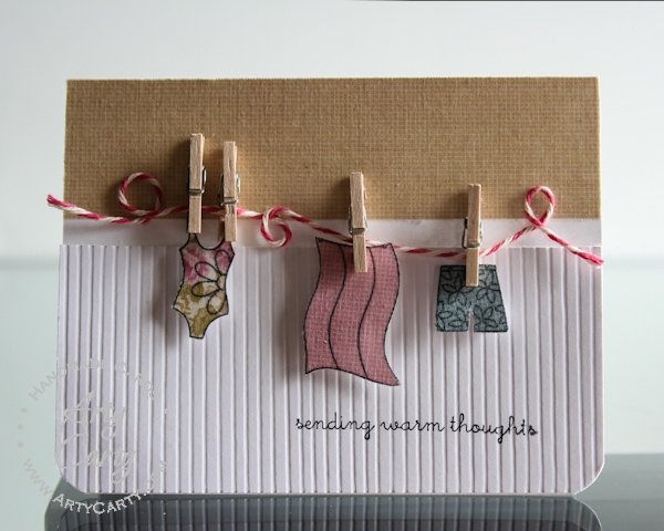 Designed by Stephanie Lee using Clothesline Greeting appetizer set