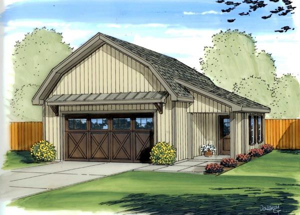 Country Farmhouse Garage Plan 41137