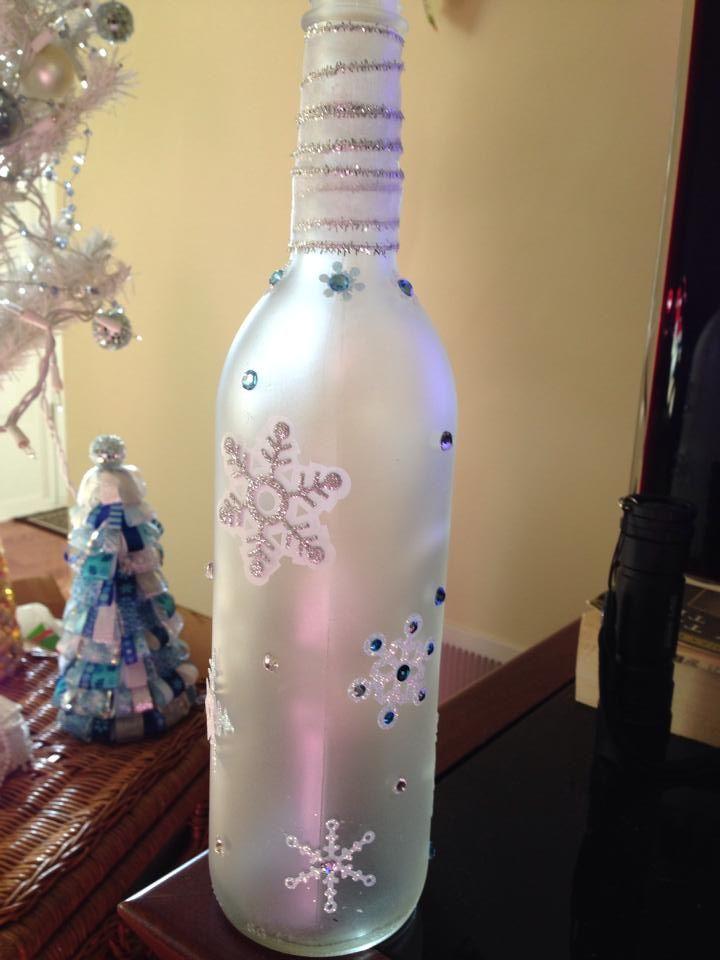 Wine bottle craft diy the crafts i have made pinterest for Diy wine bottle crafts pinterest