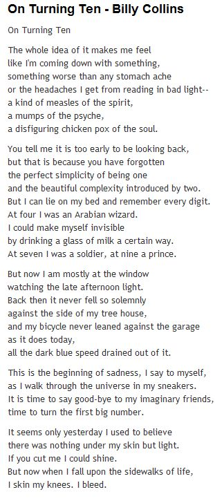 Billy collins litany