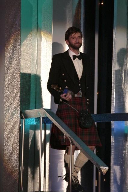 David Tennant in a kilt