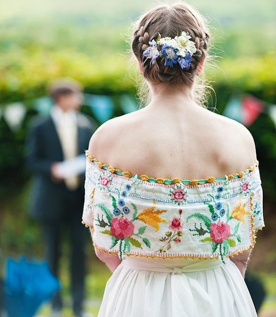 Mexican Inspired Wedding Dress Reboso Once Upon A Time Pinterest
