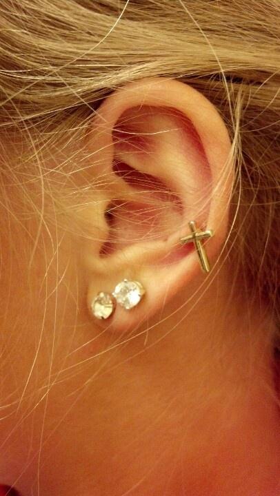 Cute ear piercings! | My Style | Pinterest