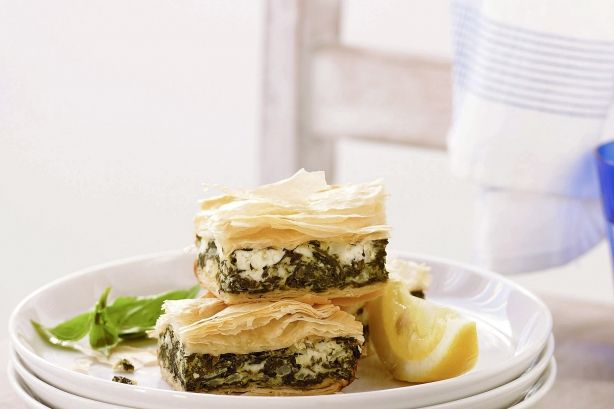 ... and delicious version of greece s famous spinach feta and filo pie