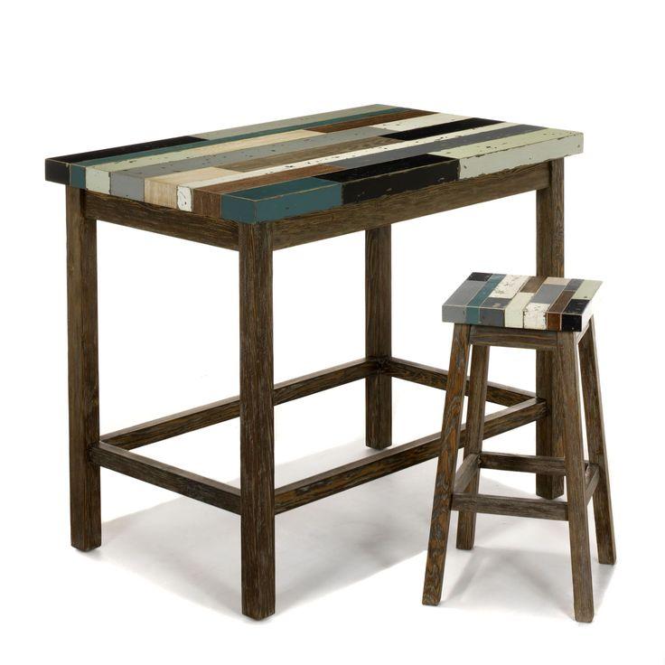 Table haute - bar rectangulaire Naturel/multicolore - Manaka - Les ...