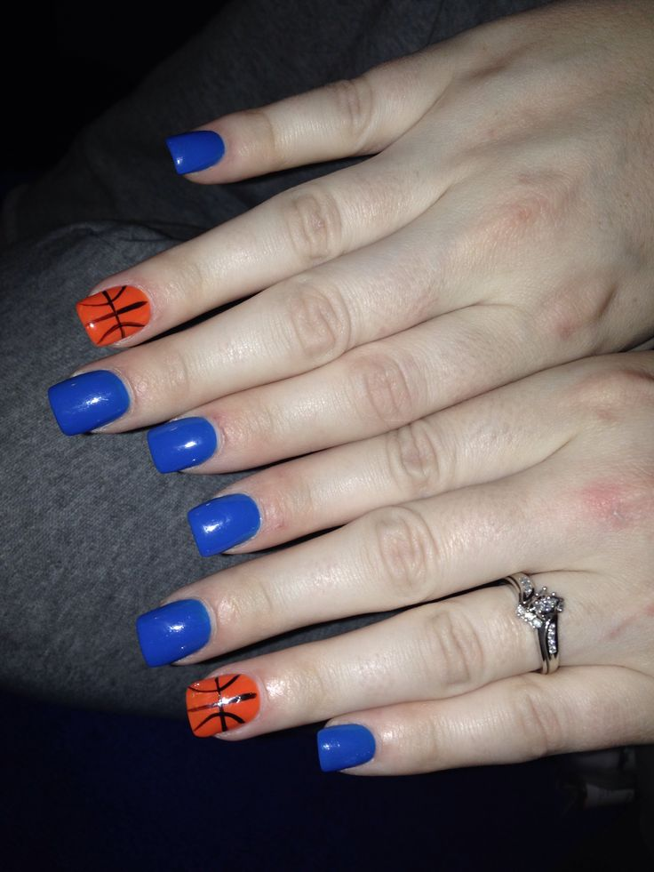 Okc thunder nails | Nails | Pinterest