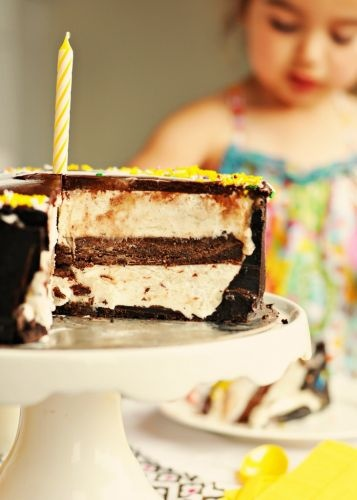 Double Chocolate Banana Ice Cream Cake   Birthday Cake Ideas   Pinter ...