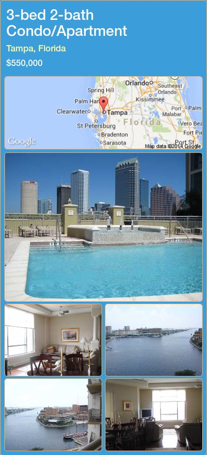Condo Apartment For Sale In Tampa Florida With 3 Bedroom 2 Bathroom