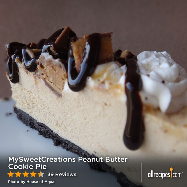 "MySweetCreations Peanut Butter Cookie Pie | ""Smooth peanut butter ..."