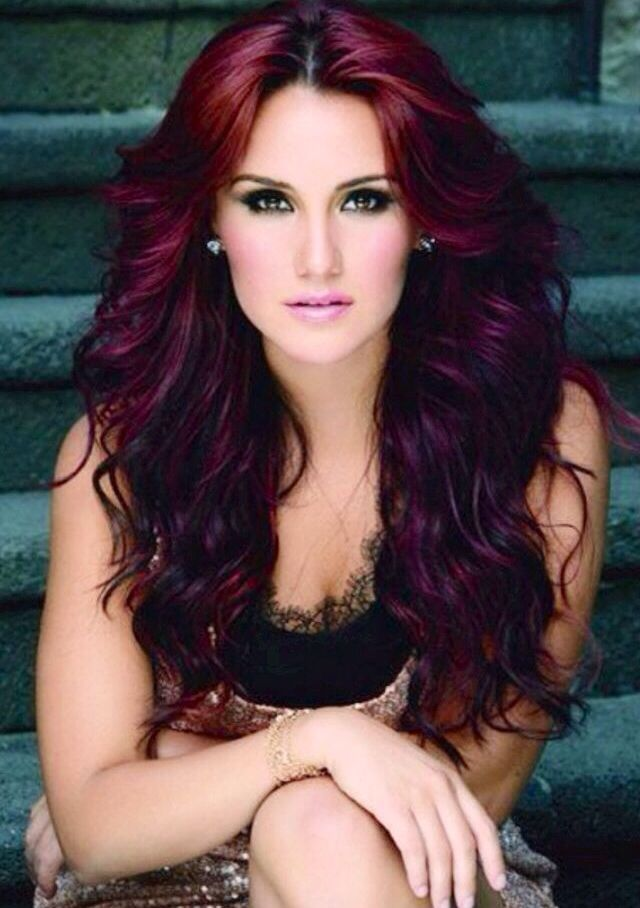 Dark red curly hair- for the fall? | My Style | Pinterest
