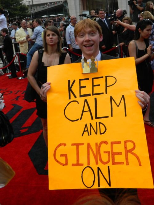 Keep calm and ginger on. #keep_calm