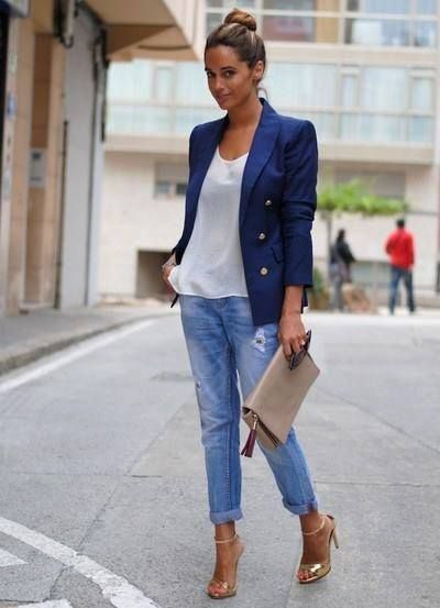 Boyfriend jeans and high heels | Modal inspiration | Pinterest