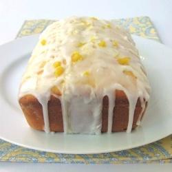 Lemon tea bread    Sweet lemon loaf, drizzled with a tart, lemony glaze!