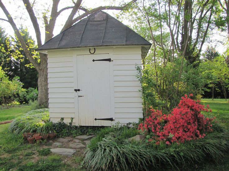 our well house in spring... | Rain barrels/well covering | Pinterest