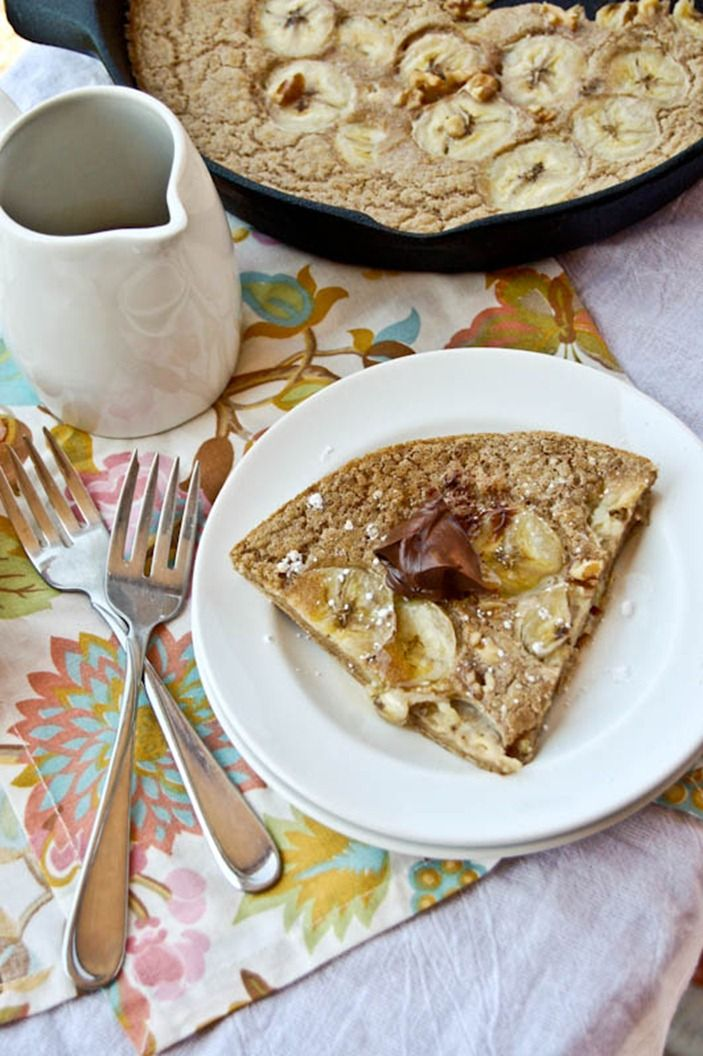 Baked Whole Wheat Banana Bread Pancake | Breakfast | Pinterest