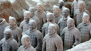 I would love to go see the Terra Cotta Warriors in Xi'an, Shaanxi Province.  This wonder of China was discovered in 1974 while digging a well in the city of Xi'an.  They discovered an underground tomb filled with 8,000 of these terra cotta statues.