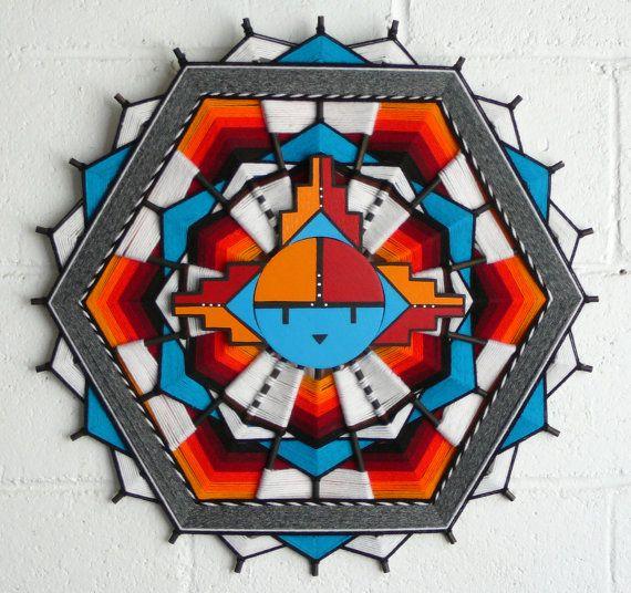 Native American made Hopi Sun Symbol by JaysMandalas on EtsyHopi Sun Symbol