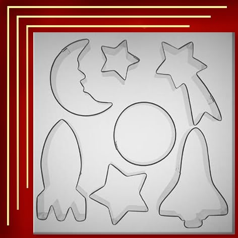 Solar System Cookie Cutters on 1st Astronaut On The Moon Worksheets