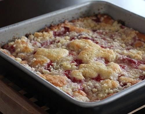 Strawberry Coffee Cake (click thru for the recipe)