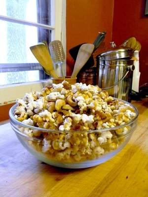 Sweet & Salty Brownies & Caramel Corn w/ Bacon & Cashews - sounds...