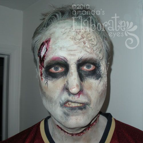 Easy Way To Paint Your Face Like A Zombie