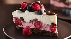 Chocolate and Berries Yogurt Dessert...I drool just looking at the ...
