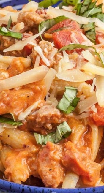 Penne with Sausage and Vodka Sauce | Recipe