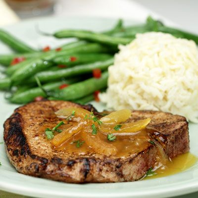 Apricot-Maple Glazed Pork Chops - one of the most flavorful pork chops ...