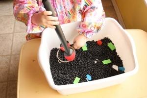 Mining for shapes #motor skills#preschool #shapes