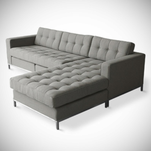 grey tufted sectional home pinterest