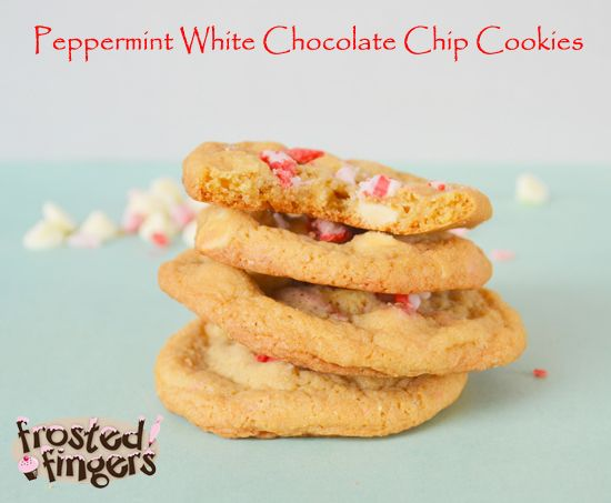 Peppermint White Chocolate Chip Cookies | Recipe