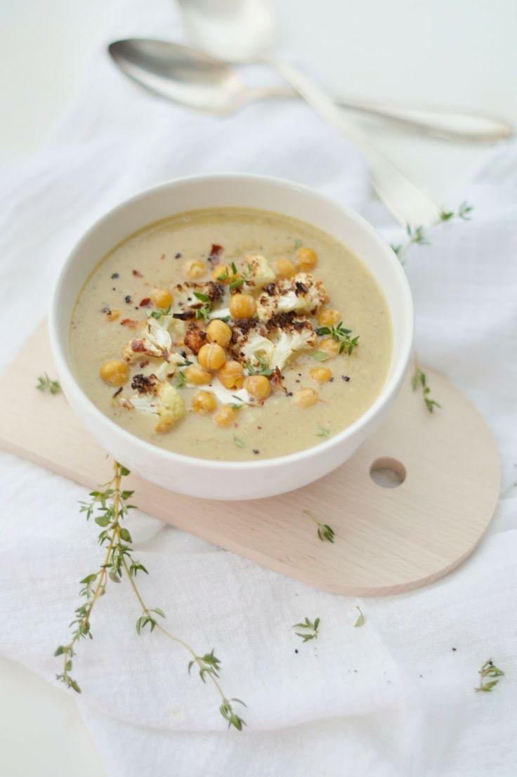 Cream Of Cauliflower With Roasted Garlic & Apple Recipes — Dishmaps