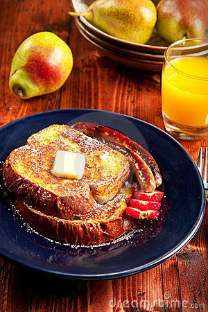French toast & Sausage Breakfast Frozen Fench Toast- freeser to the ...
