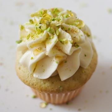 Pistachio Cupcake with Milk & Honey Buttercream http://threemanycooks ...