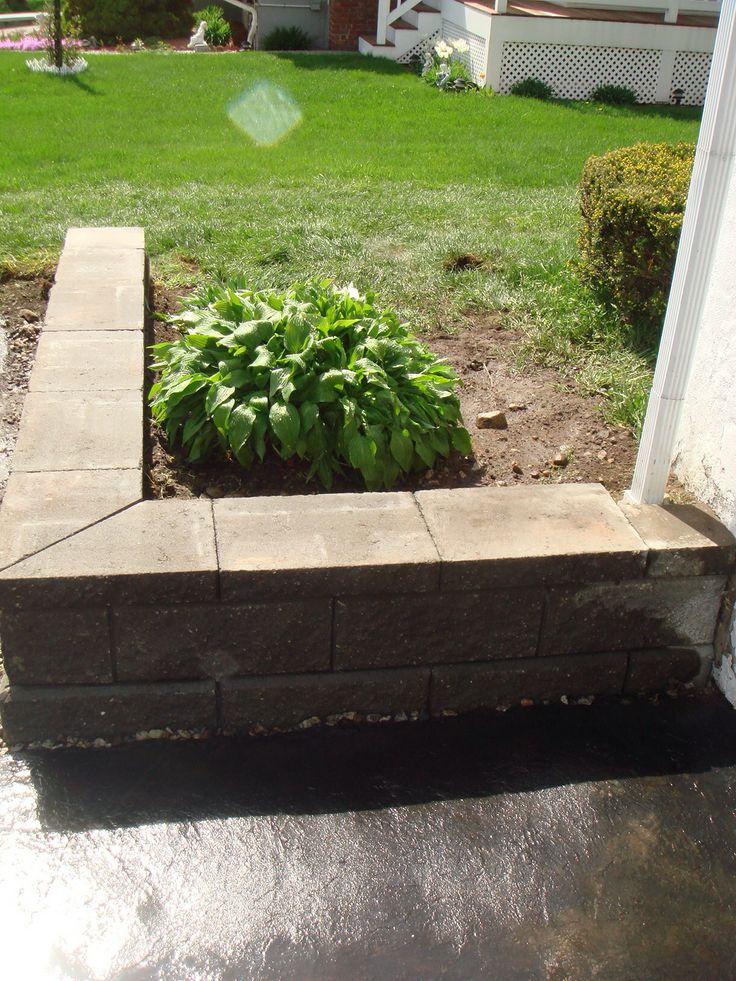 small retaining wall along a driveway yard stuff pinterest