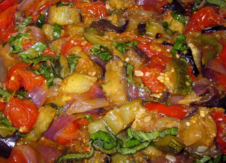 Rustic Roasted Ratatouille, recipe: http://carolinasaucecompany ...