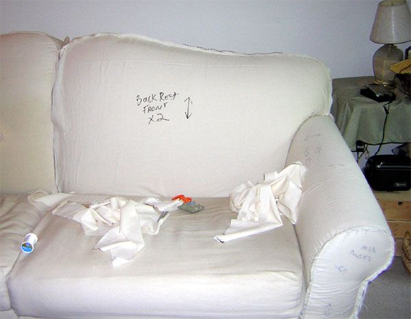how to make a slipcover for a couch