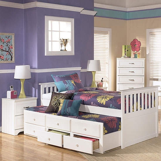 Signature Design Youth Bedroom Twin Loft Caster Bed B239 ...