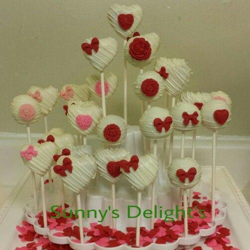 Valentines day cake pops | Pops by Sunny's Delight's | Pinterest