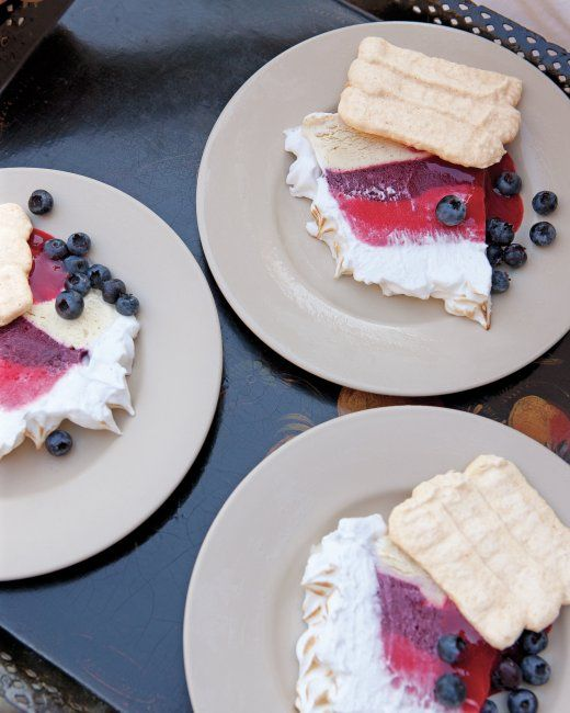 Almond Meringue With Raspberry Sorbet Recipes — Dishmaps