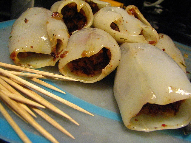 Grilled Morcilla Stuffed Squid with a Spicy Sauce by SeppySills, via ...