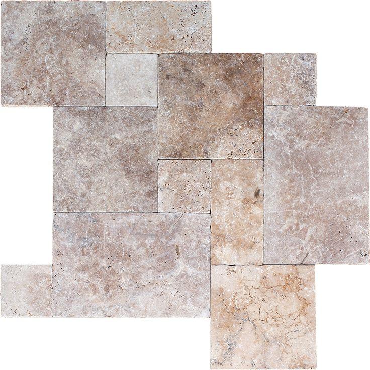 Travertine tile french pattern floor tile pinterest for Carrelage anglais